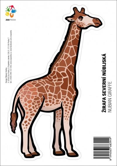 Samolepka – Žirafa severní núbijská
