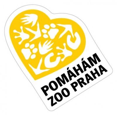 Samolepka Pomáhám Zoo Praha - žlutá