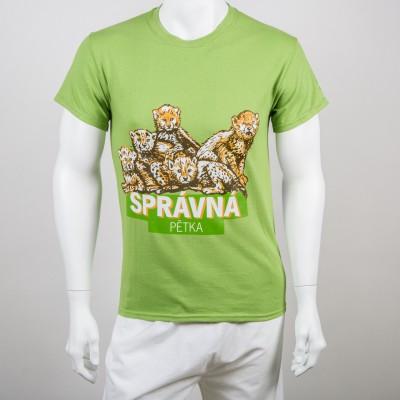 """Pánské tričko """"Správná pětka"""" gepard"""