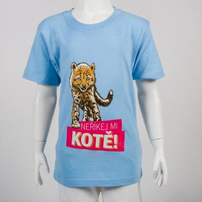 """Dětské tričko s motivem """"Neříkej mi kotě"""""""