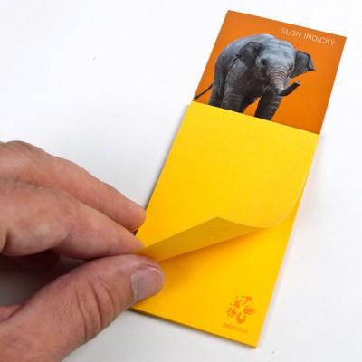 Magnetka s bločkem - Slon