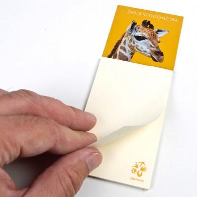 Magnetka s bločkem - Žirafa