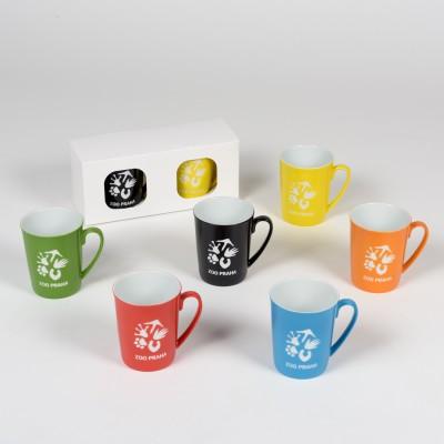 Exklusivní porcelánová sada hrnků ze Zoo Praha – 3 barevné kombinace