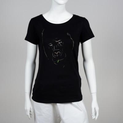 Dámské tričko BIO bavlna – motiv Gorila