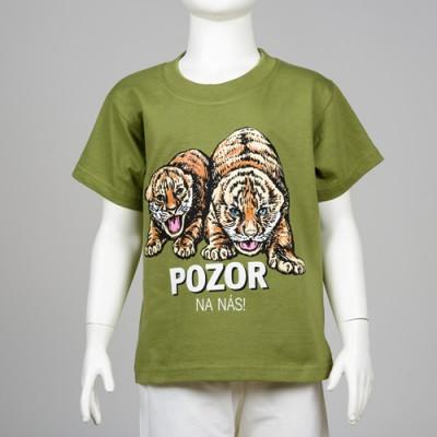 """Dětské tričko s motivem tygřat - """"Pozor na nás!"""""""