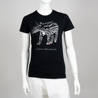 Bavlněné dámské tričko s motivem mláděte tapíra čabrakového