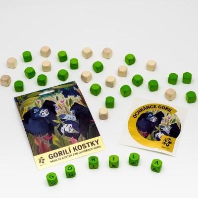 Gorilí kostky – sada 50 ks