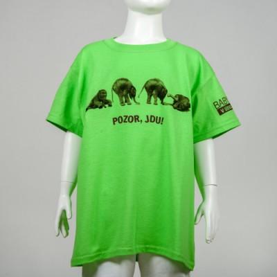 Dětské tričko POZOR, JDU!