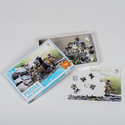 Originální puzzle Zoo Praha v krabičce - tučňáci