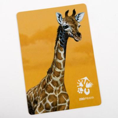 Magnetka s motivem žirafy