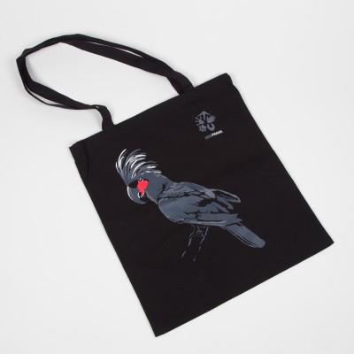 Originální látková taška s motivem papouška – kakadu palmový