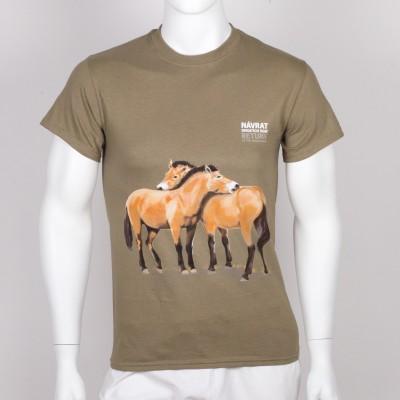 """Unisex tričko s motivem """"Návrat divokých koní"""", rok 2019"""