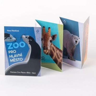 Pohlednicové leporelo 90 let Zoo Praha