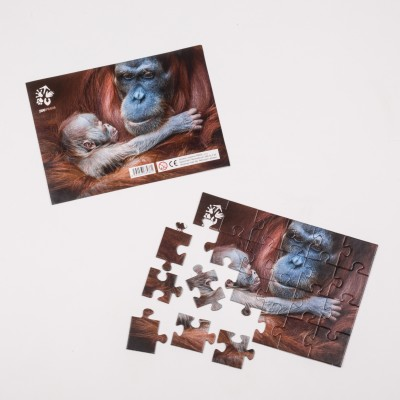 Puzzle orangutan Mawar s mládětem