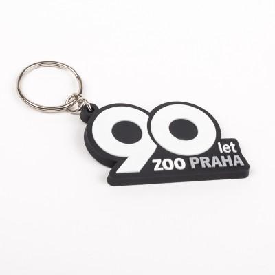 2D gumový přívěsek na klíče – 90 let Zoo Praha