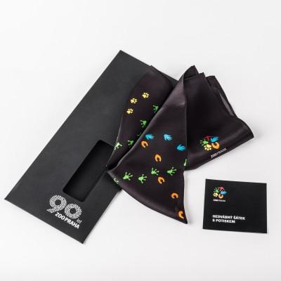 Hedvábný šátek s potiskem