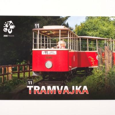 Pohlednice – dětská tramvajka ze Zoo Praha