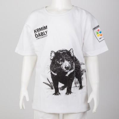 Dětské tričko KRMÍM ĎÁBLY - bílé