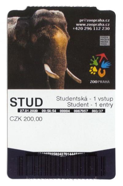 Jednorázová vstupenka studentská