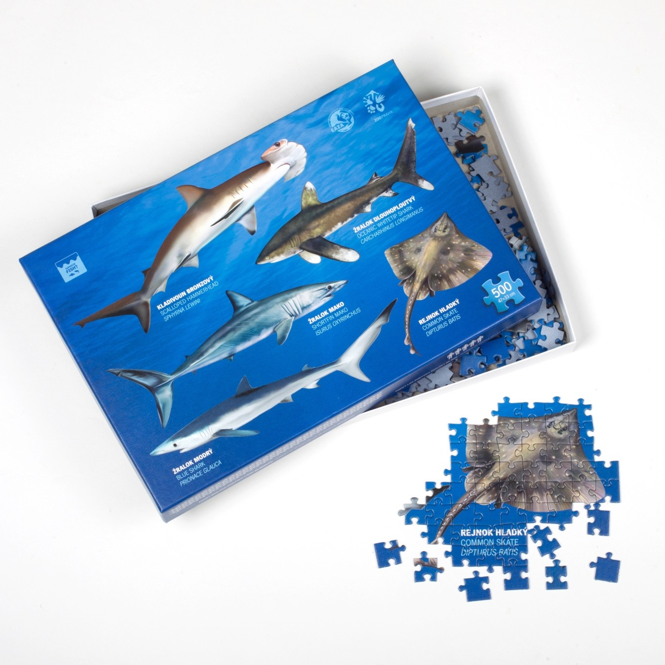 """Puzzle """"Which Fish?"""" – ohrožení vládci moří a oceánů 500 dílků"""