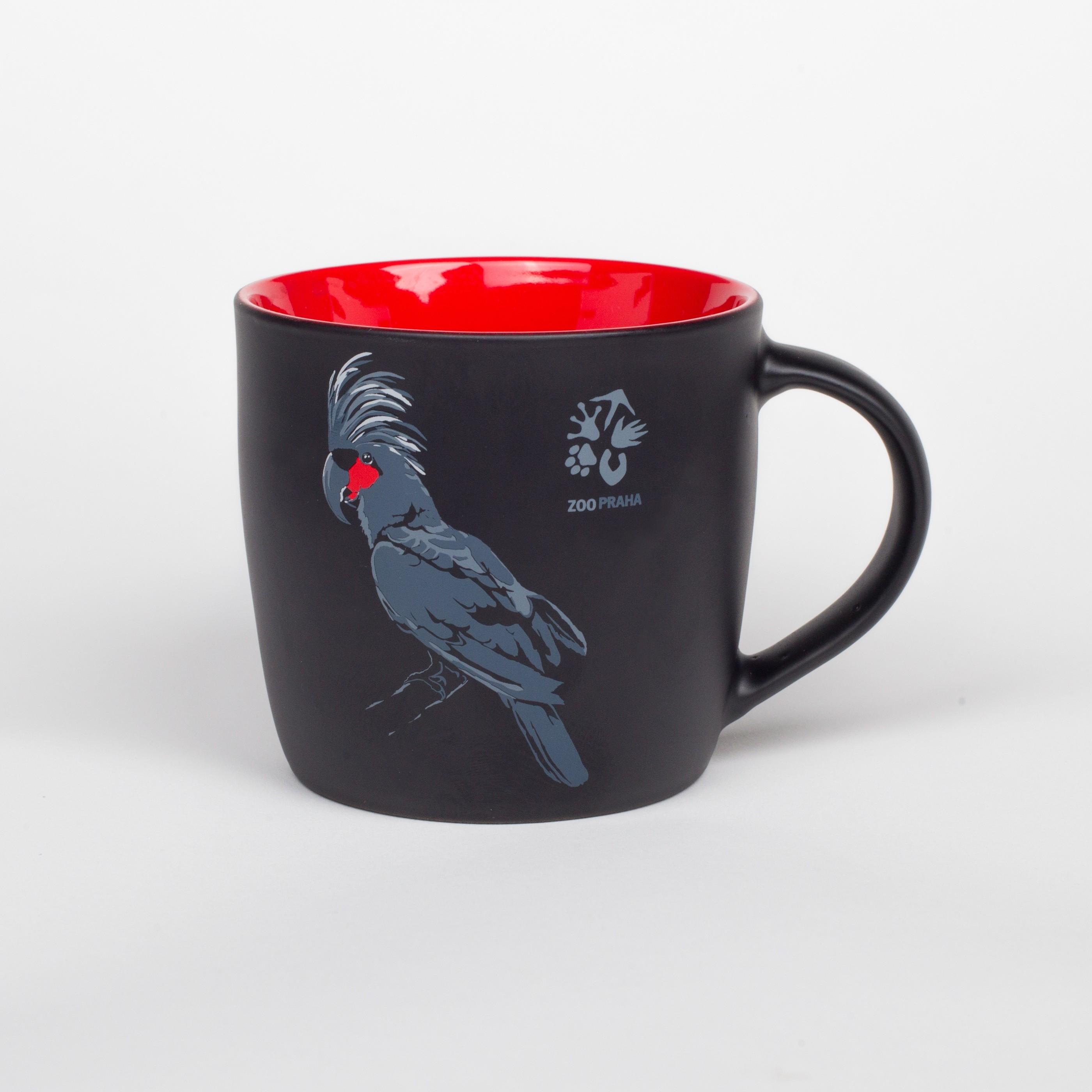 Exkluzivní porcelánový hrnek – motiv kakadu palmový