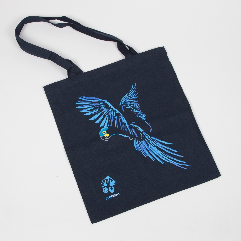 Originální látková taška s motivem papouška – ara Learův