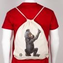 Plátěný batůžek s gorilkou