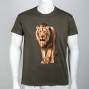 Bavlněné pánské tričko se lvem