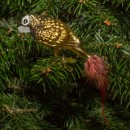 Ručně malovaná vánoční ozdoba s motivem papouška – papoušek patagonský