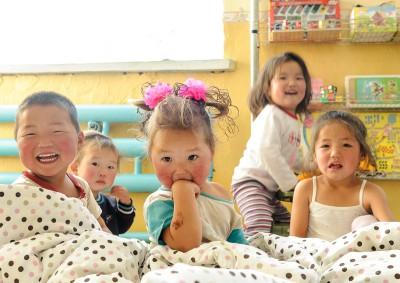 Fotoobraz - Děti ve školce ve vesnici Bidž
