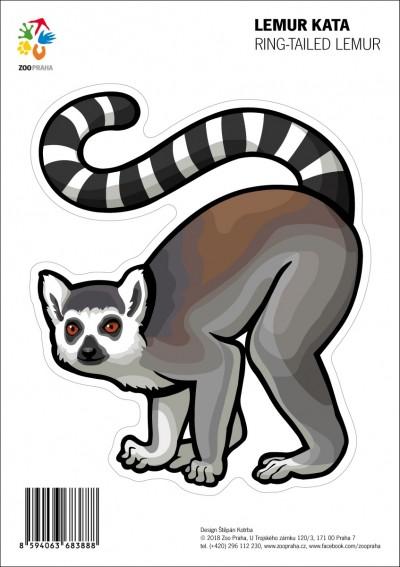 Samolepka – Lemur kata
