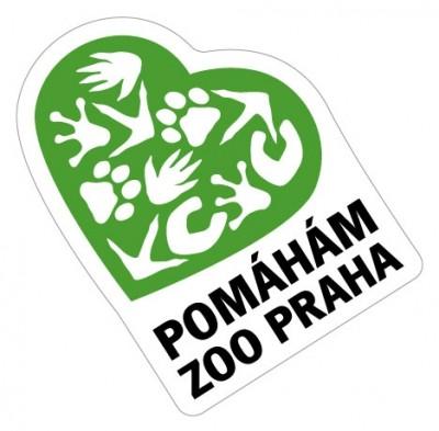 Samolepka Pomáhám Zoo Praha - zelená