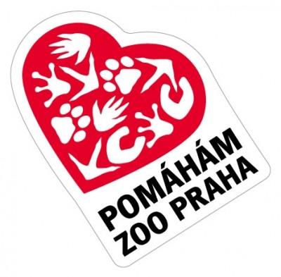 Samolepka Pomáhám Zoo Praha - červená