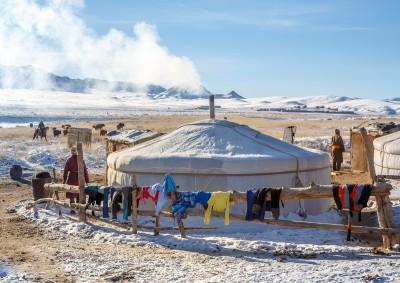 Fotoobraz - Zimoviště pastevců v Přísně chráněné oblasti Velká Gobi B