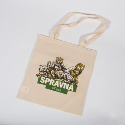 Látková taška s motivem  gepardích paterčat