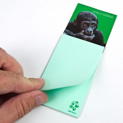 Magnetka s bločkem - Gorila