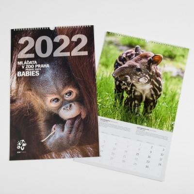 """""""Mláďata v Zoo Praha"""" – nástěnný kalendář Zoo Praha pro rok 2022"""