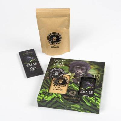 Čokoláda a káva, které pomáhají – dárkové balení