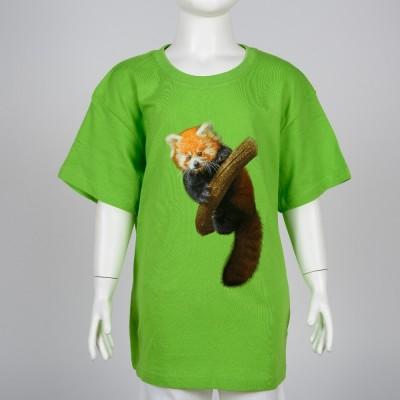 Dětské triko s mládětem pandy červené