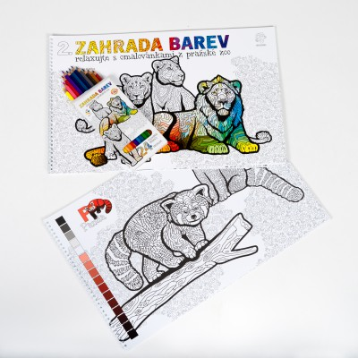 Balíček omalovánek s pastelkami – edice Zahrada barev 2.