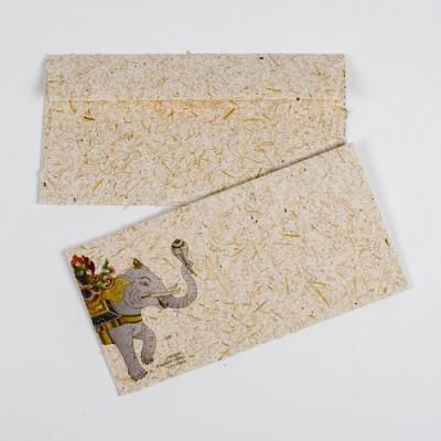 Dopisní obálka ze sloního trusu