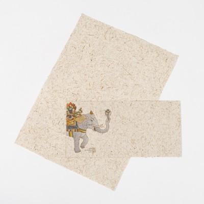 Dopisní papír s obálkou ze sloního trusu.