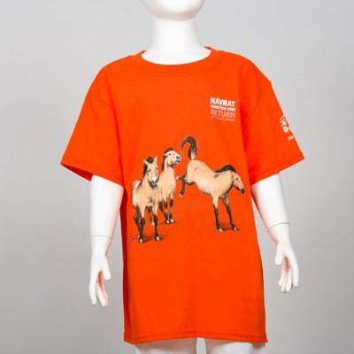 Dětské tričko s motivem Návratu koní Převalského, rok 2017