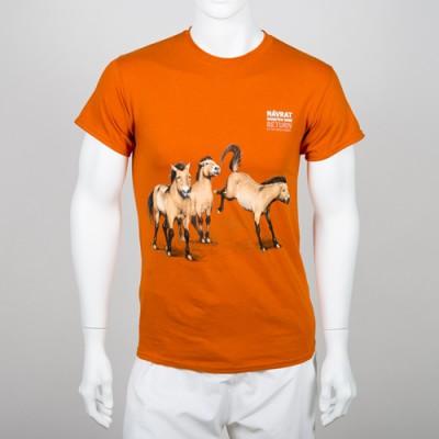 """Unisex tričko s motivem """"Návrat divokých koní"""", rok 2017"""
