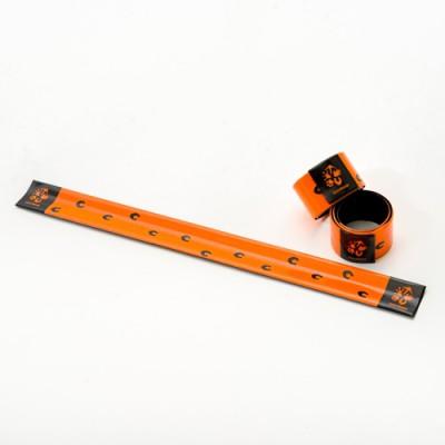 Pásek reflexní - oranžový se stopou koně Převalského