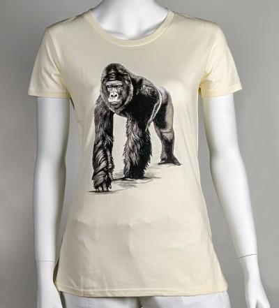 Dámské tričko s motivem gorilího samce Richarda