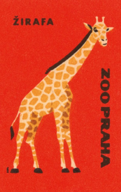 Retro blok s motivem žirafy