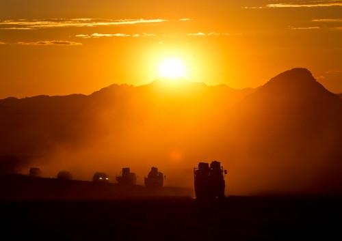 Fotoobraz - Přesun koní z letiště v Bulgan sumu do Tachin talu