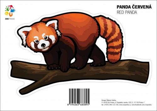 Samolepka – Panda červená