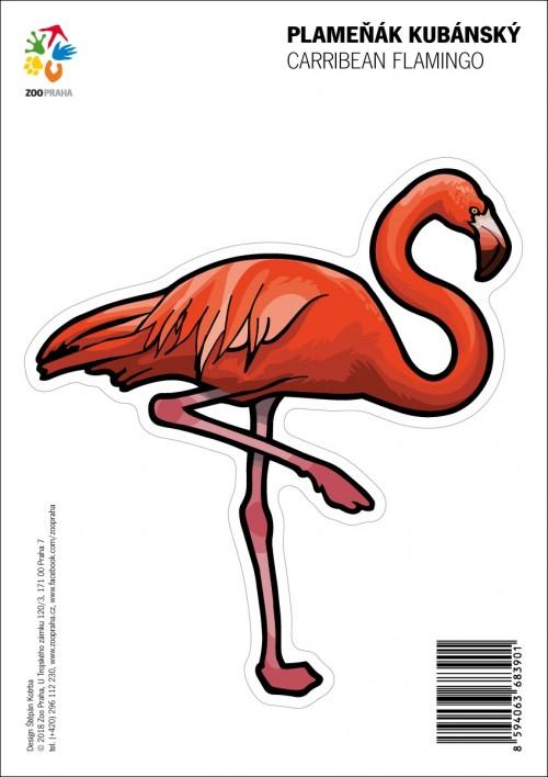 Samolepka – Plameňák kubánský
